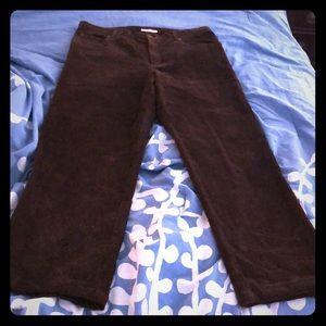 Jones New York Brown Corduroy Pants